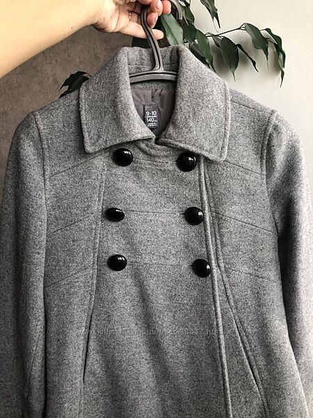 Шерстяное пальто zara 9-10 лет, 140 см