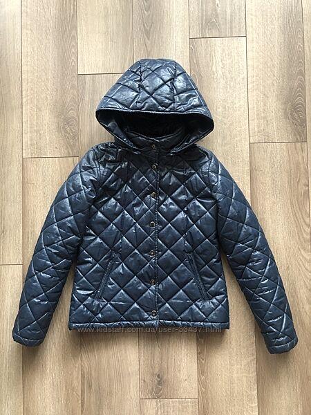 Стеганая демисезонная куртка benetton XL 150 см 10-11 лет