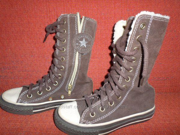 Замшевые кеды Converse на худую ножку 26 размер