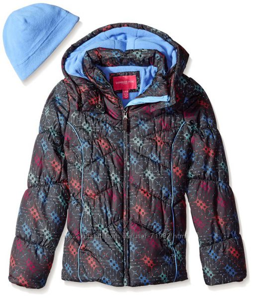 Теплая куртка и шапочка London Fog. Америка. Качество.