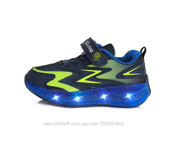 Кожаные кроссовки дд степ dd step led подсветка