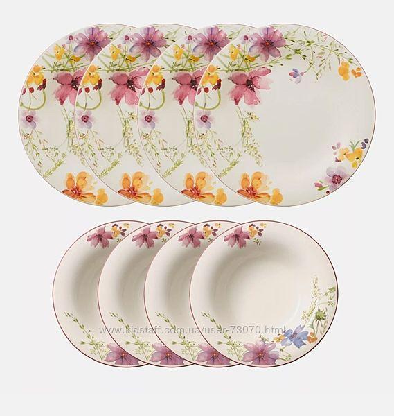 Villeroy & Boch сервиз, тарелки, чашки серии Mariefleur