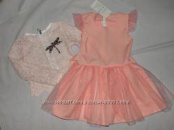 Нарядное платье с гипюровой кофточкой