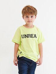 Брендовая неоновая футболка для мальчика. яркая весна - лето 2021