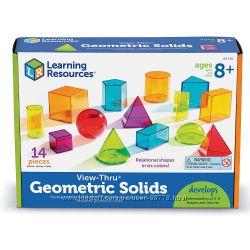 Геометрический набор Geometric solids Learning resources  14 предметов