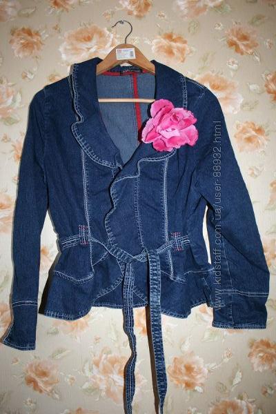 Эксклюзивный джинсовый пиджак куртка 46-48р.