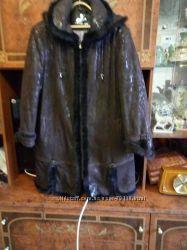 Продается кожаное пальто в отличном состоянии