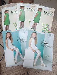 Капроновые колготы белые, черные, серые для девочек. Размеры от 116 до 158