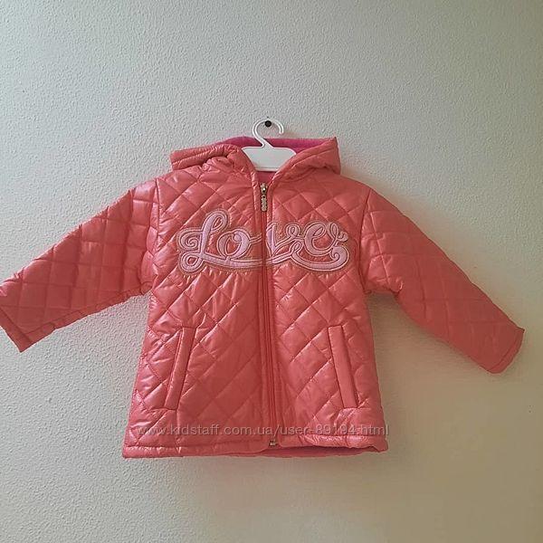 Демисезонные утепленные курточки девочкам со 104 по 116 р.