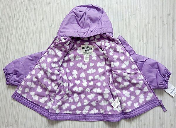 р.12м 72-78см непромокаемая куртка ветровка на флисе Ошкош. Распродажа