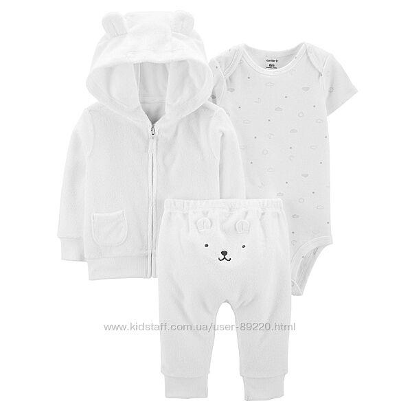 Акция -10 -20. Картерс комплекты для новорожденных хлопок, махра Распродажа