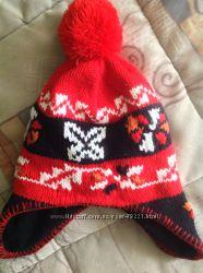 Красивая теплая шапка на флисе