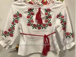 Українська вишиванка на дівчинку 1-3 роки. Ручна робота. c91ba8707b924