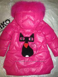 Красивое зимнее пальто KIKO 4977 c кошечкой