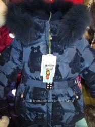 Красивый зимний комбинезон KIKO 4958.  Плюшевые мишки.