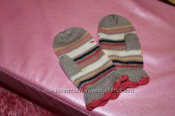Варежки для девочки, Mothercare, возр. 3 - 6 лет.