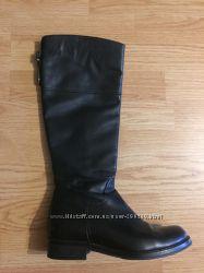 Продам кожаные черные сапоги, осень. Размер 37-38
