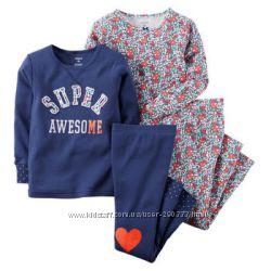 Пижамки Carters. пижама для девочки картерс