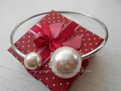 Жесткое ожерелье с двумя крупными жемчужинами Dior Pearl
