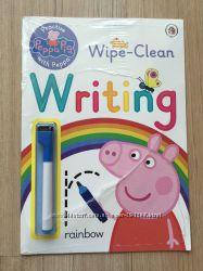 Свинка Пеппа тетради для обучения цифры, первые слова, письмо