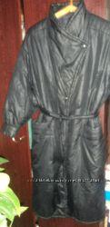 черное пальто на синтепоне