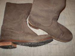 кожаные  сапожки  на  широкую  ножку  ф.  Buffalo  размер  40 - 26  см