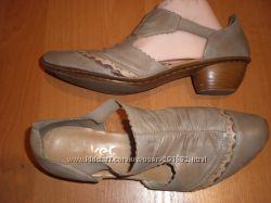 42 -28 см  кожаные  туфли ф. Rieker