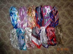 Атласные платки разные цвета