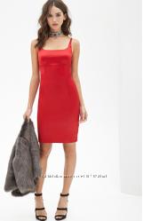 Платье Forever 21 Sateen Cami Bodycon Dress