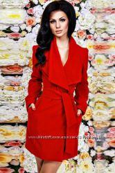 Пальто красное размер С