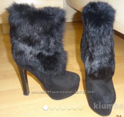 Ботинки зимние замша как новые