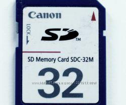 Canon SD карта памяти 32 MB