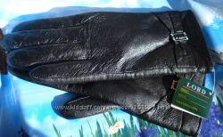 Перчатки натуральная кожа с махрой