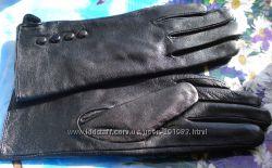 Перчатки натуральная кожа утеплены байкой