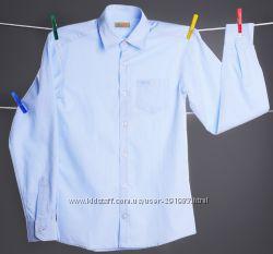 Превосходная голубая рубашка Bogi на мальчика размер 158-164