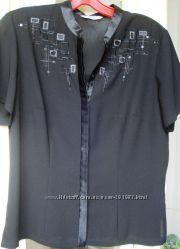 Черная блуза Marks&Spenser с вышивкой оригинал
