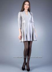 Серебряное платье с карманами BGL