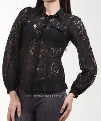 Блузка Yumi Uttam London черная кружево