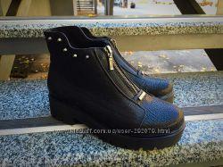 Акция Ботинки кожаные, размер 39