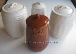 Глиняные емкости для хранения разного объема, бу