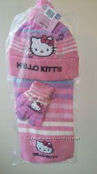Комплекты шапочка, шарф и перчатки Disney  Kitti