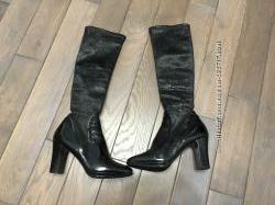 Итальянские кожаные сапоги-чулки