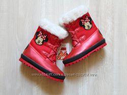 Новые зимние сапоги Минни для девочки. Mothercare. Размеры 1028
