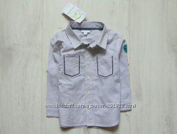Новая нарядная рубашка для мальчика. Vertbaudet. Размер 1-2 года