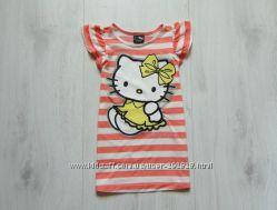 Стильная футболка-туника для девочки. Hello Kitty at George. Размер 2-3 год