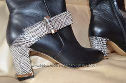 Демисезонные кожаные ботиночкиполусапожки Baldiva