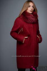Зимнее пальто X-Woyz PL 8683 цвет марсала