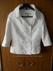 Нарядный льняной пиджак Mango р. M