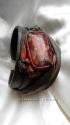 Эксклюзивный авторский кожаный браслет с яшмой