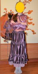 Нарядный костюм, юбка длинная и блузочка